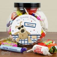 Personalised Boofle Stars Sweet Jar - Ideal for Father's Day, Birthdays, Christmas.